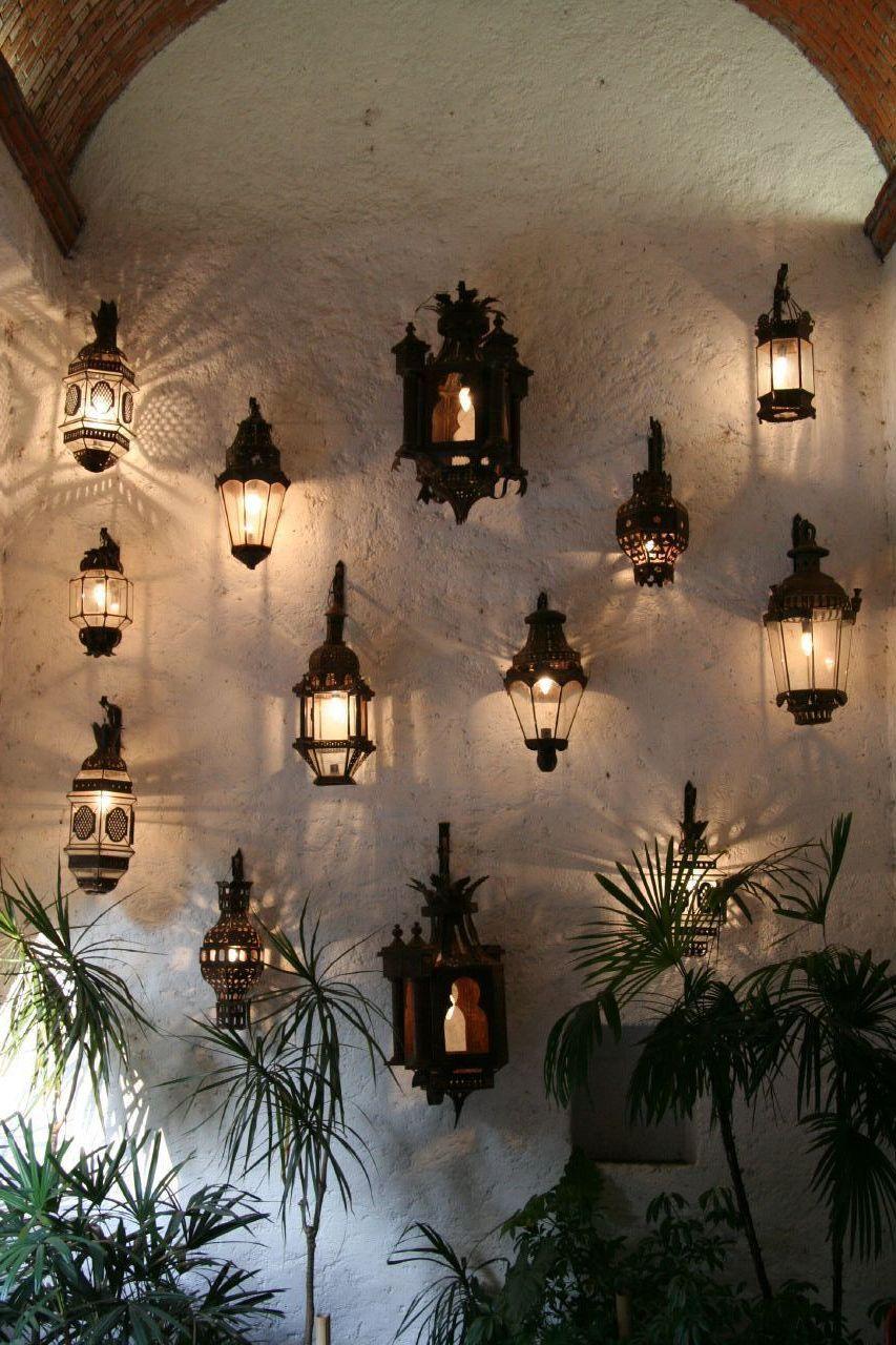 Candiles de vela para pared casa decoraci n de unas for Lamparas para exteriores de casas