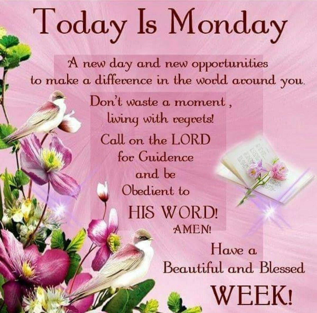 Today is Monday EVERYDAY BLESSINGS Pinterest Mondays