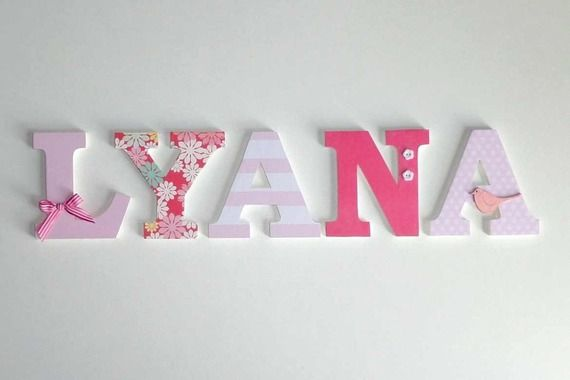 lyana d co lettres en bois pr nom lyana diy pinterest baby wall decor babies and craft. Black Bedroom Furniture Sets. Home Design Ideas