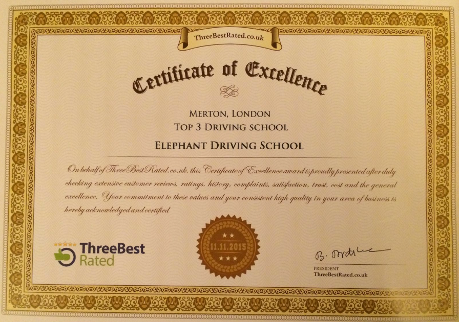 ThreeBestRated Certificate