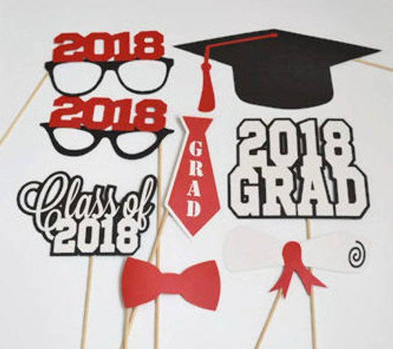 Graduation Photo Booth Props Set Of 12 Class Of 2020 2020