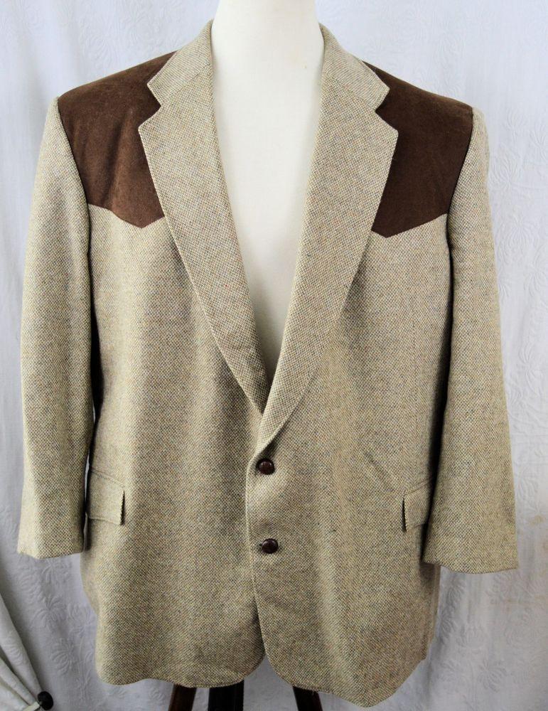 Men's Western HIGH NOON Jacket Sport Coat Blazer Size 52L