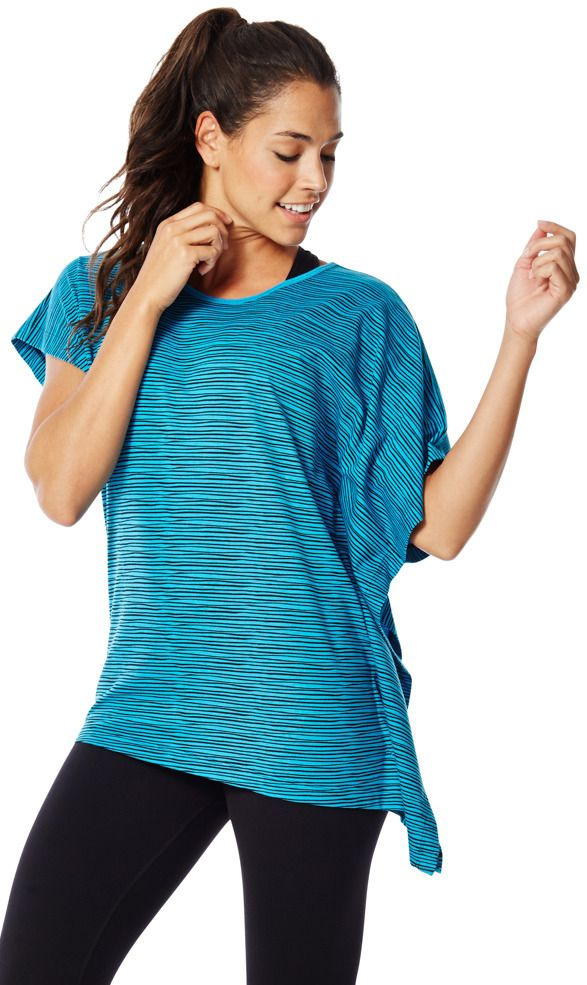 Safari Striped Poncho Tee | Zumba Fitness Shop