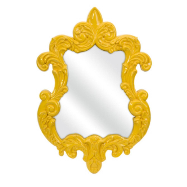 30 Mustard Yellow Elegant Baroque-Style Decorative Wall Mirror ...