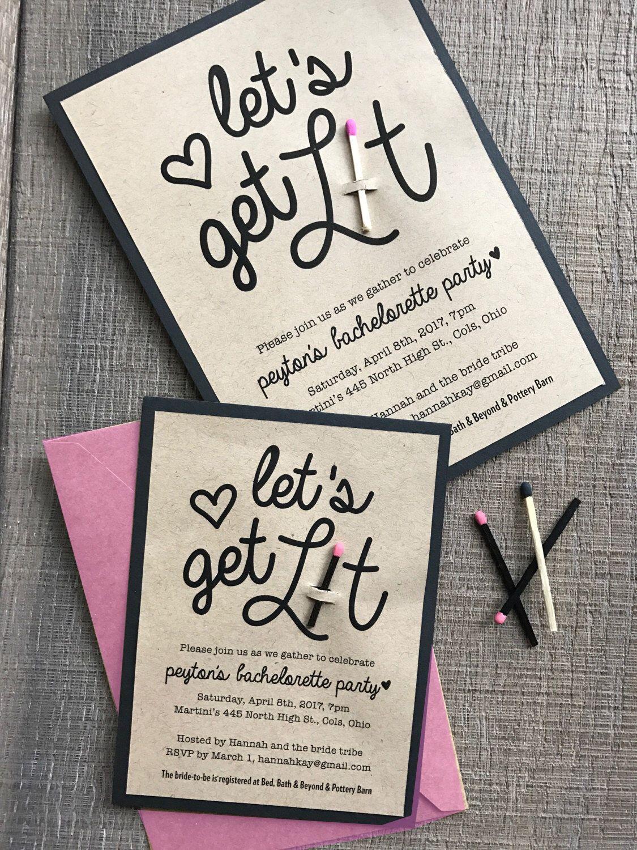 Super fun bachelorette or bridal shower invitation Can