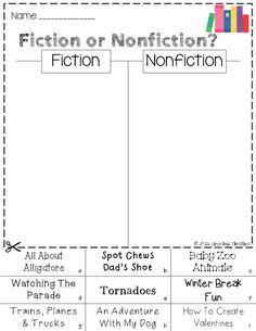 Image result for fiction vs. nonfiction worksheet | Nonfiction ...