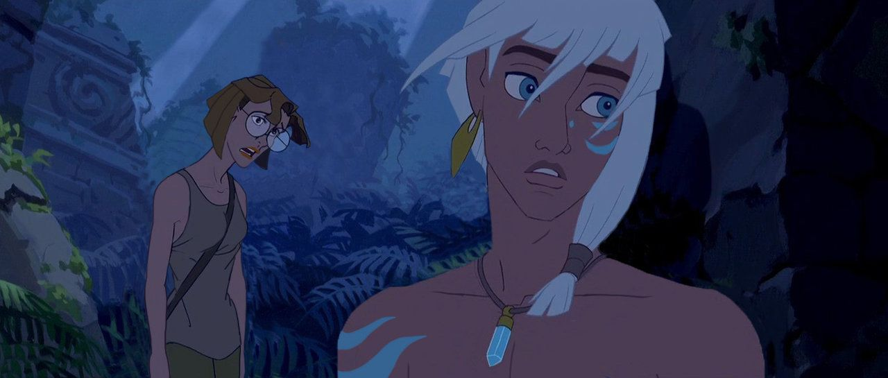 Milo And Kida In Real Life And The Disney Movie The Lost City Of Atlantis Milo And Kida Lost City Of Atlantis Childhood Memories