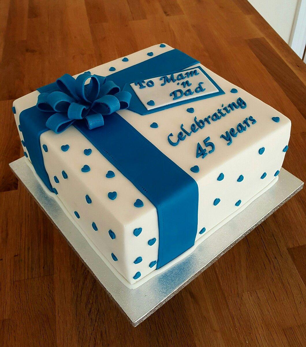 Cake Ideas For 45th Wedding Anniversary : Sapphire Blue 45th Wedding Anniversary 5 Alwynne s ...