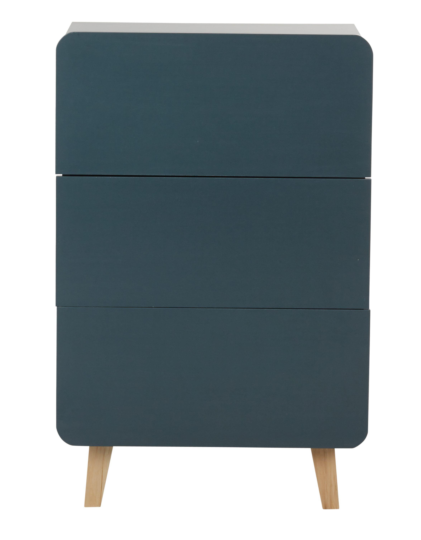 commode mila but 3 tiroirs en bois existe en bleu corail - Commode Chambre But