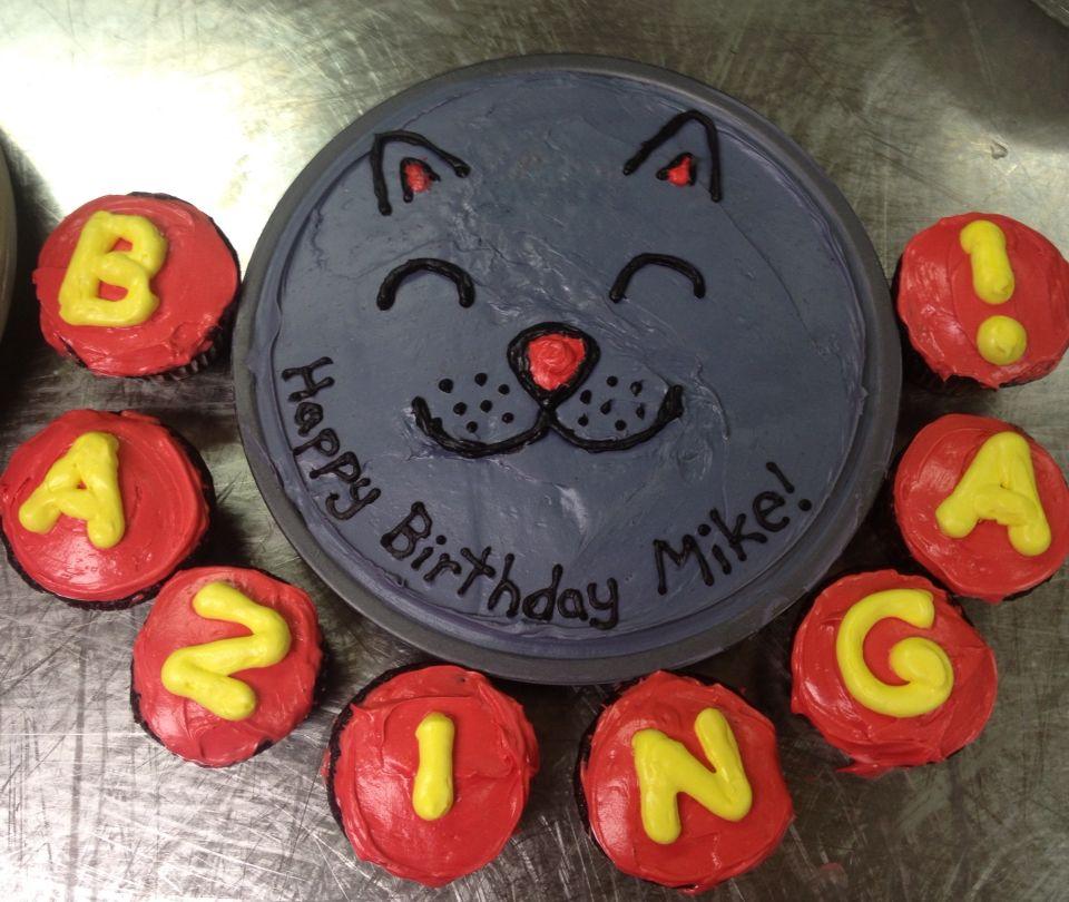 Big Bang theory cake & cupcakes/ soft kitty/ bazinga