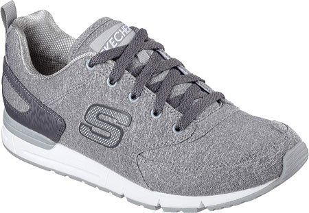Skechers Womens Retros OG 92 Walk It Out Lace Up,Gray,US 6 M