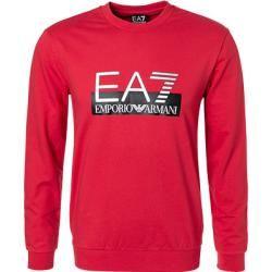 Photo of Ea7 Sweatshirt Männer, Baumwolle, rot Armani