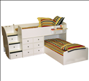 Berg Furniture Twin Captains Bunk Bed for Two 22-905