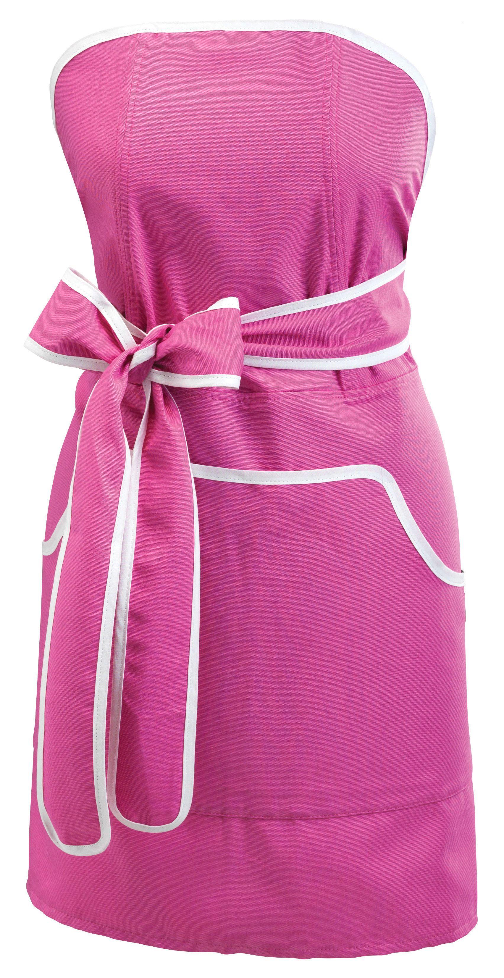Cupcake apron pink with white banding