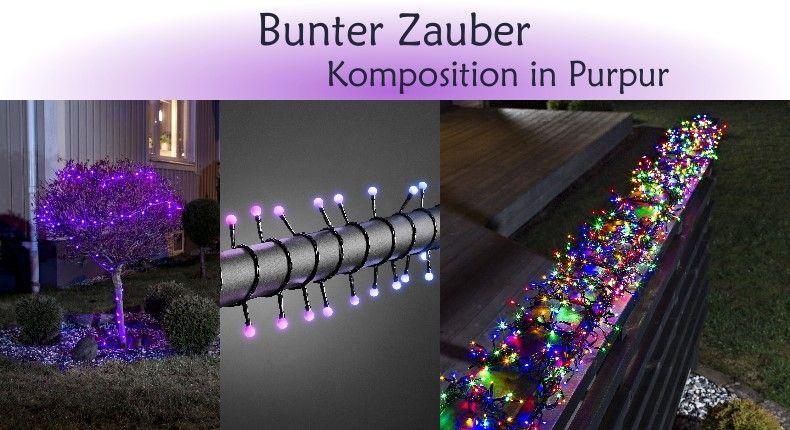 Universal Needs Weihnachtsbeleuchtung.Weihnachtsbeleuchtung Trend Bunter Zauber Komposition In Purpur