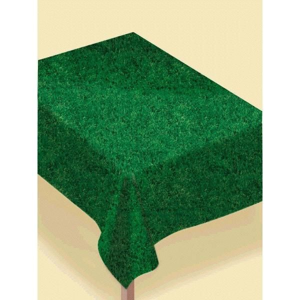 Grass Flannel Backed Vinyl Table Cover   Party Depot