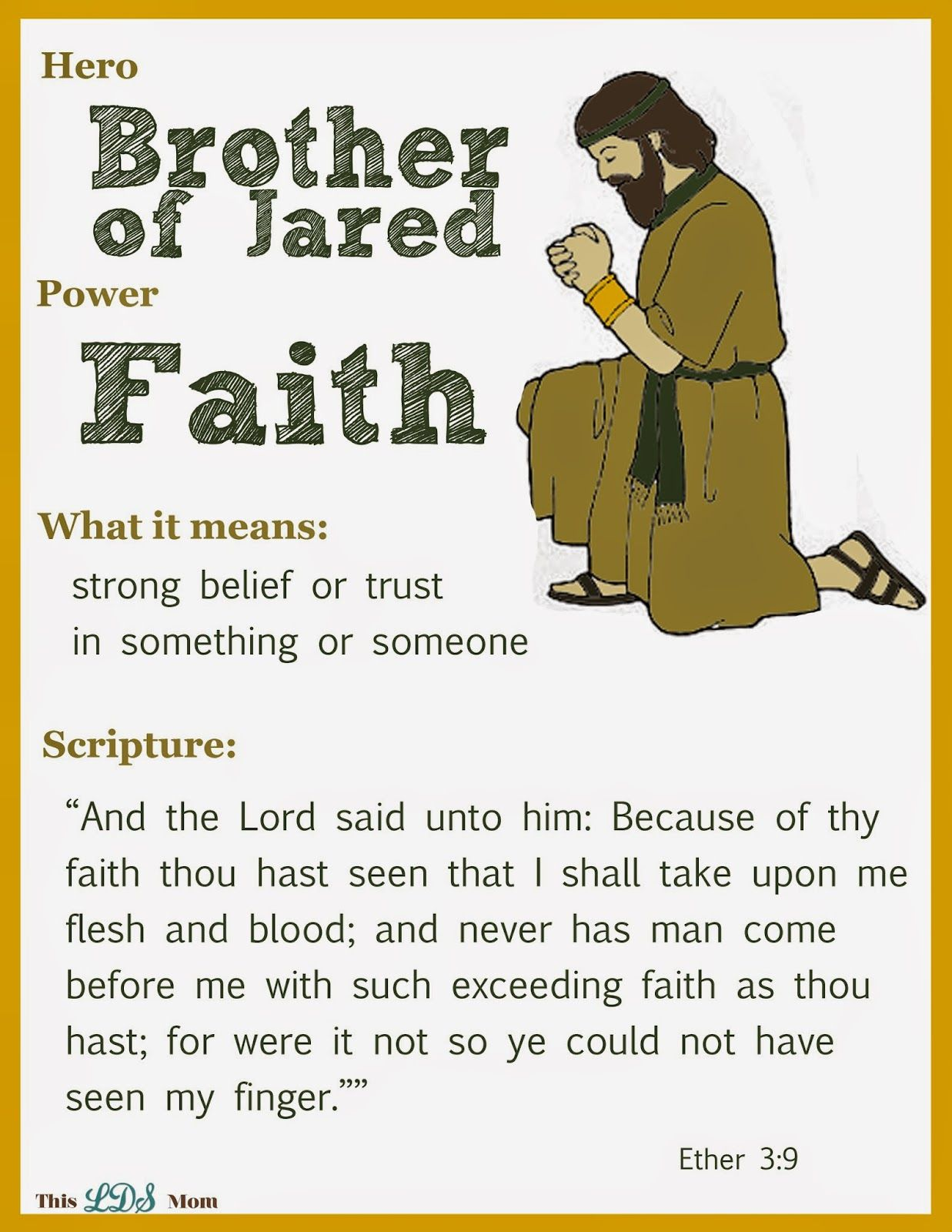 Scripture Heroes Brother Of Jared Bible For Kids Scripture