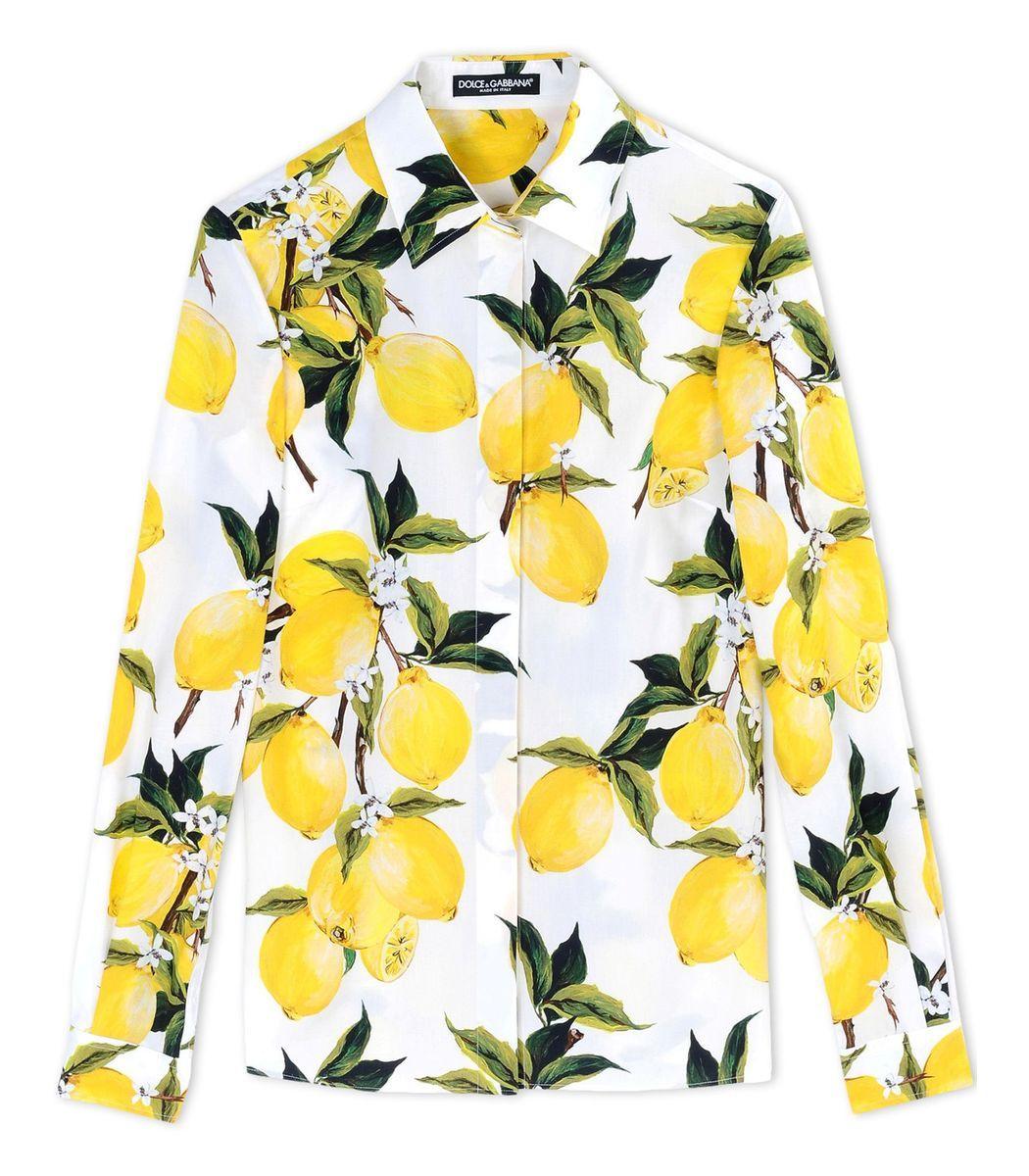 dd96299b18e8 Dolce   Gabbana Lemon Print Blouse