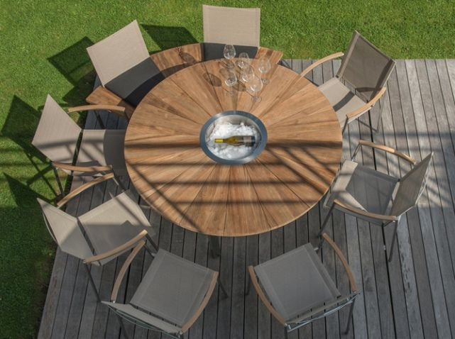Table Ronde En Bois Printemps 2016 Truffaut | Jardin | Outdoor ...