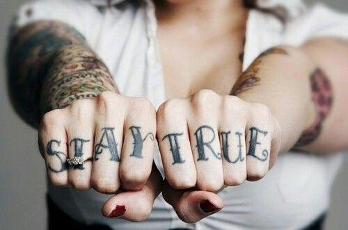c012cbc50 Fingers stay true | Tattoo Ideas | Knuckle tattoos, Tattoos for guys ...