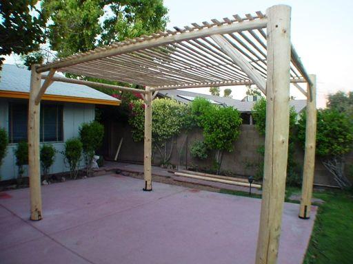 D I Y Projects Lodge Pole Ramada Patio Sw Vigas Latillas Pine Poles Az Arizona Hand Peeled Railings Pine Mantels Santa Fe Homes S Patio Ramada Santa Fe Home
