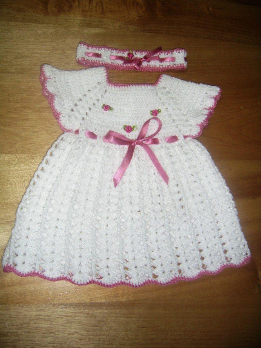 vestidos de bebe a crochet patrones - Buscar con Google | a crochet ...