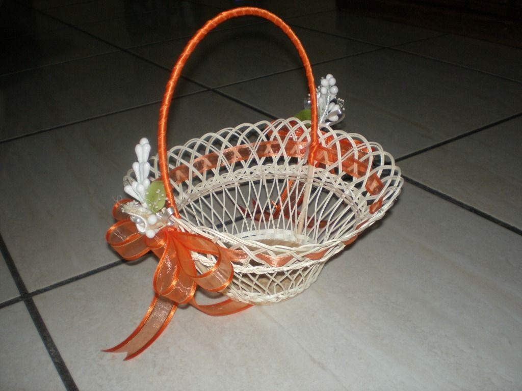 Como decorar una canasta para boda imagui - Como adornar cestas de mimbre ...