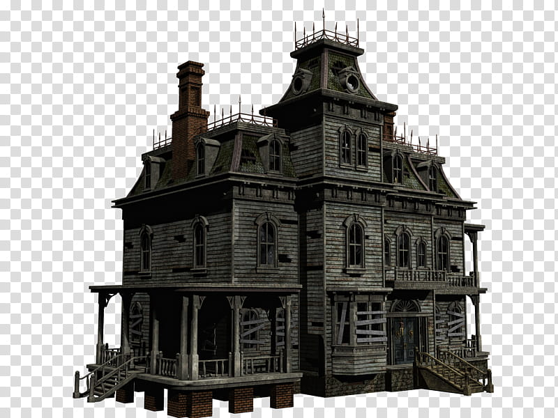 Haunted House Haunted House Transparent Background Png Clipart Hiclipart Scary Houses Ghost House Haunted House Party