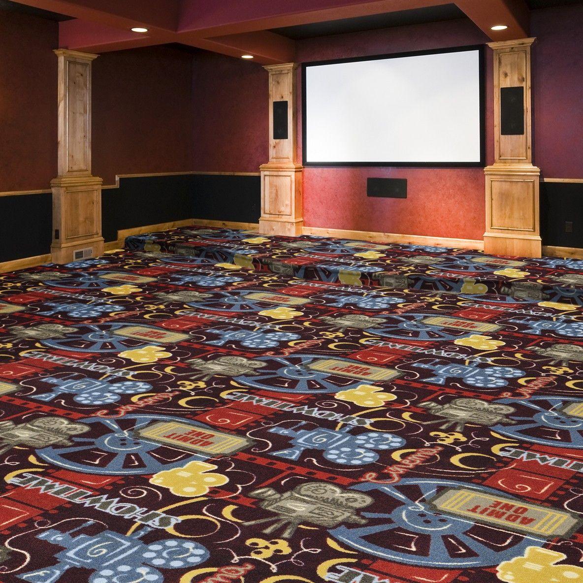 Joy Carpets Camera Ready Any Day Matinee Home Theater Carpet