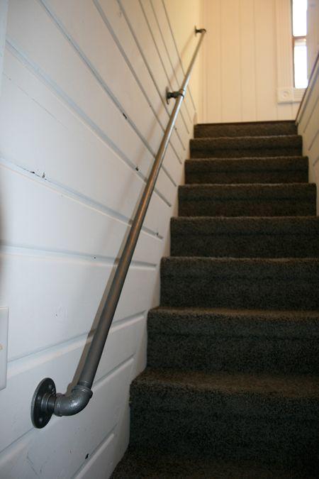 Pipe U0026 Fittings U003d Industrial Handrail For Basement Stairs