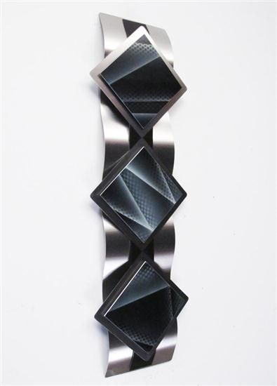 Modern Abstract Metal Wall Sculpture ART Black Painting Home Decor Contemporary   eBay