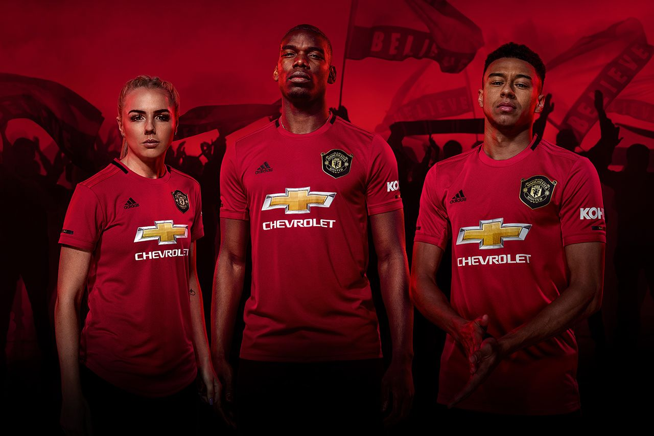 Manchester United Reveal 2019 20 Home Kit Pursuit Of Dopeness Manchester United Manchester United Third Kit Manchester United Home Kit