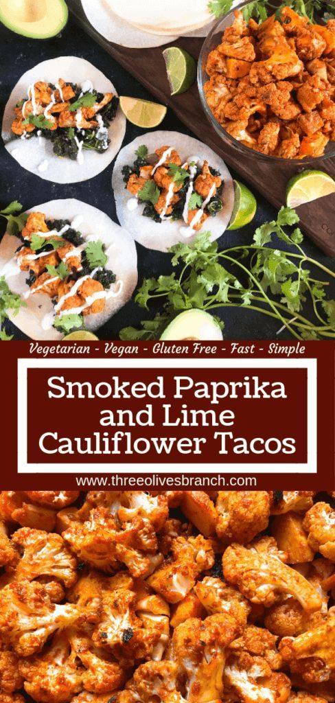 Photo of Smoked Paprika and Lime Cauliflower Tacos – Three Olives Branch