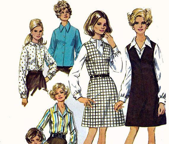 60s Plus Size Jumper & Blouse Pattern Simplicity 8408 Vintage Sewing ...