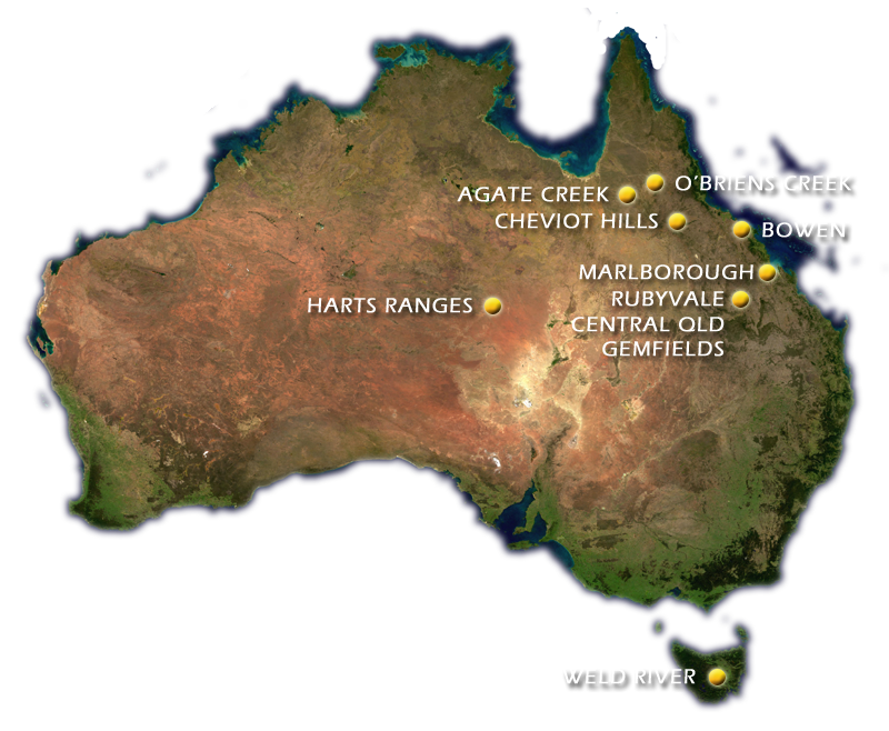 Map of Australia showing important gemstone locations - Doug ... Map Sapphire Mined In Australia on media map, ne map, vi map, mind map, eclipse map, metal map, elvis map,