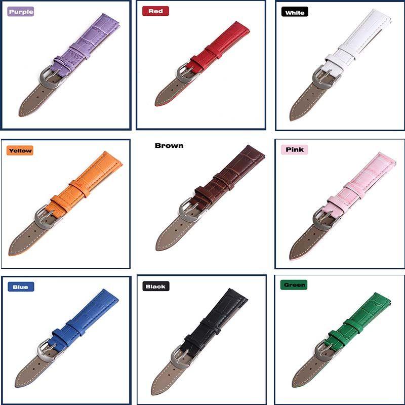 Venda de reloj de Cuero Genuino de las correas 12mm 18mm 20mm 14mm 16mm 19mm 22mm reloj accesorios de los hombres de Alta Calidad de colores de Brown correas de Reloj