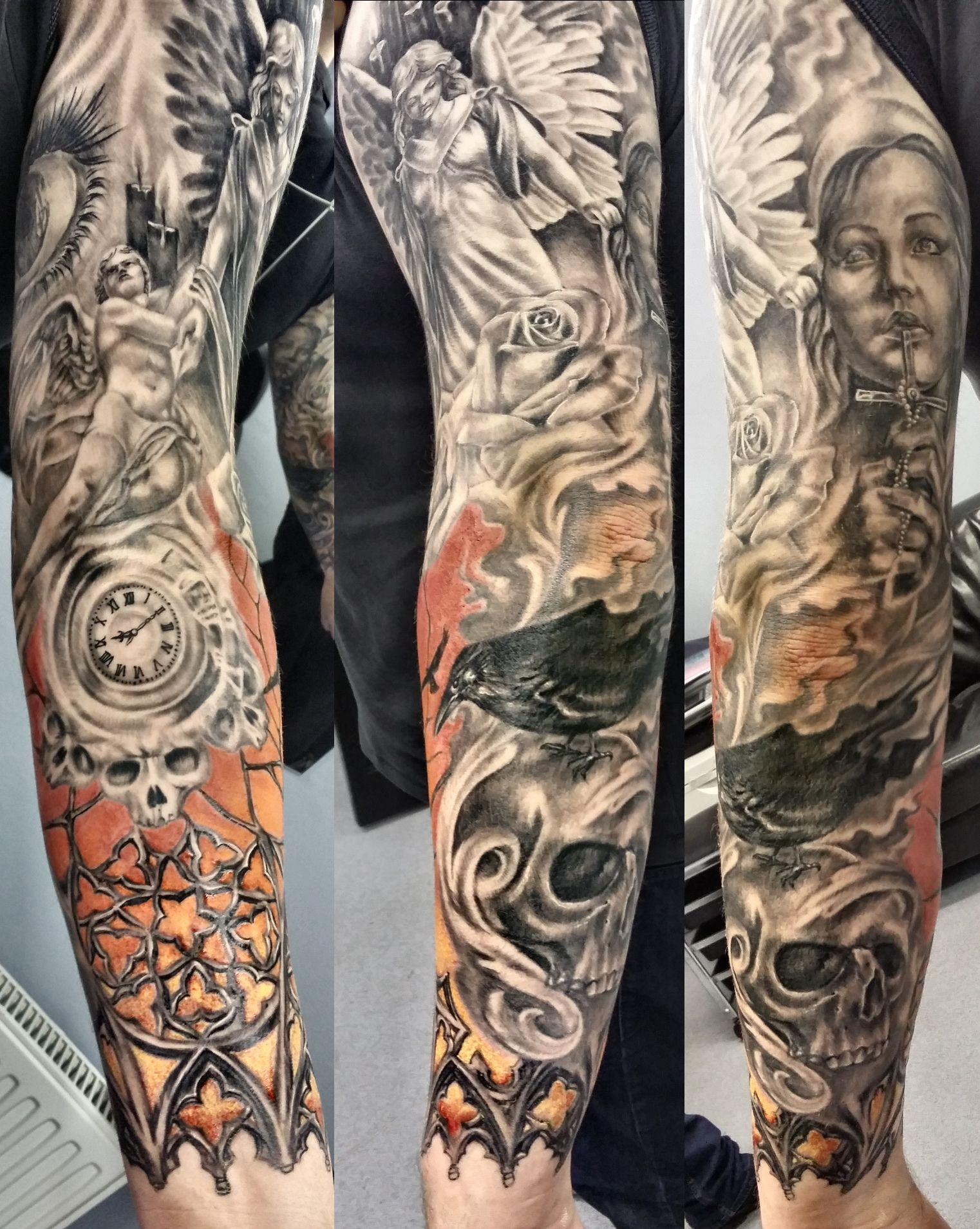 Cool Arm Sleeves Tattoos Spiritual: Pin By John Rodriguez On Tattoo Ideas
