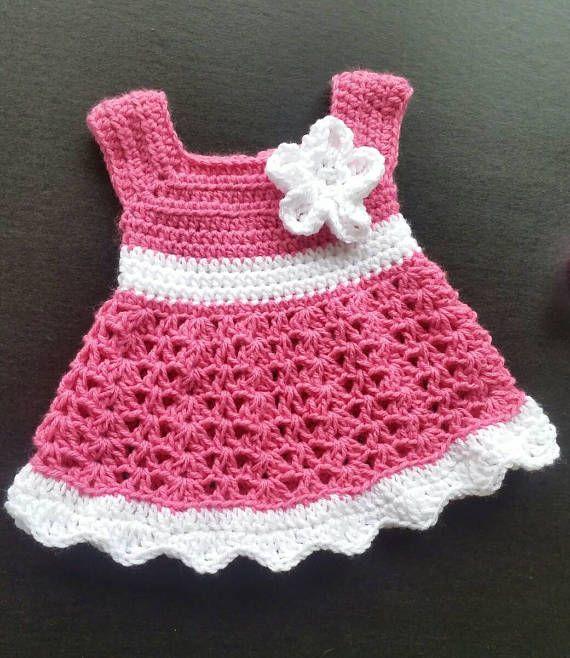 474c026149306 Pink Crochet Baby Set Infant Baby Dress, Handmade Baby Girl Gift, Newborn  Baby Dress, Baby Shower Gi