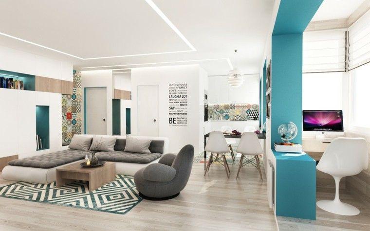 Comedor Diseño | Sofa De Diseno En El Salon Comedor Moderno Arquitectura