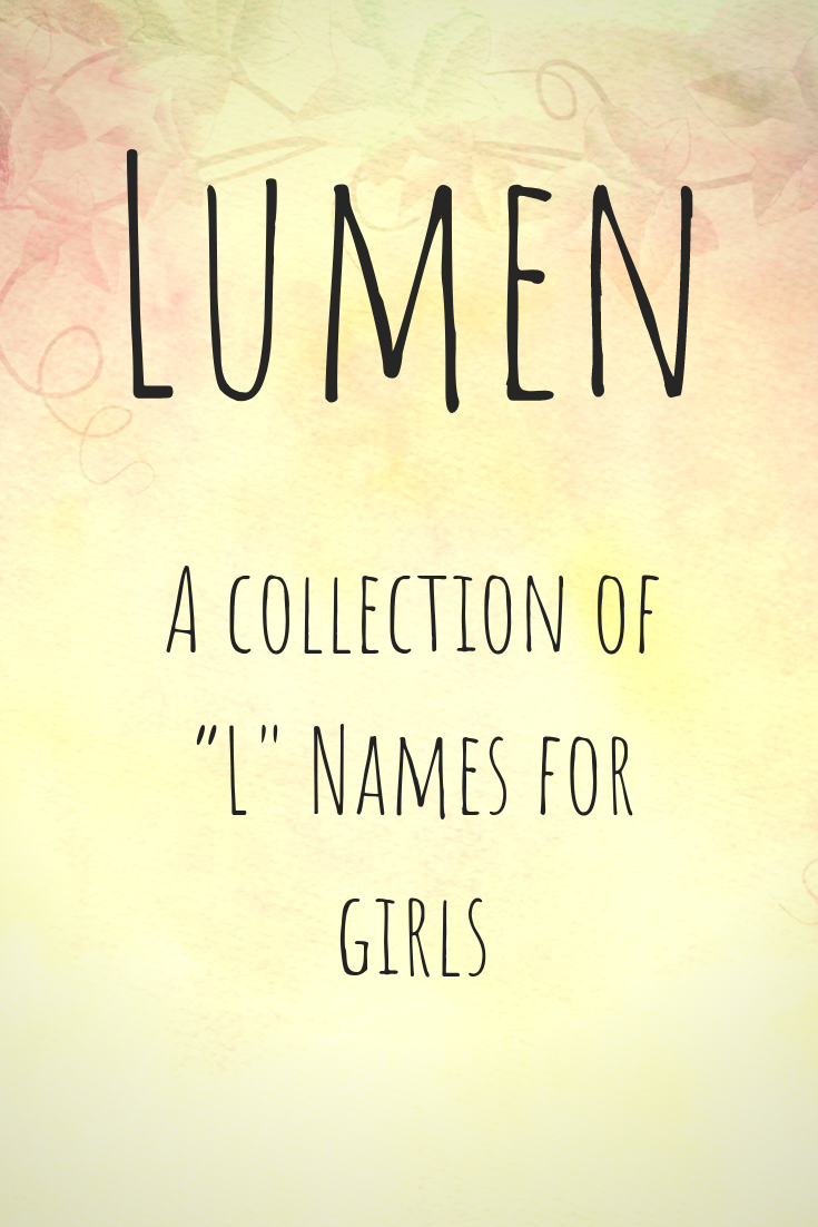 L Names For Girls Namingbaby Names Lnames Babynames Unique