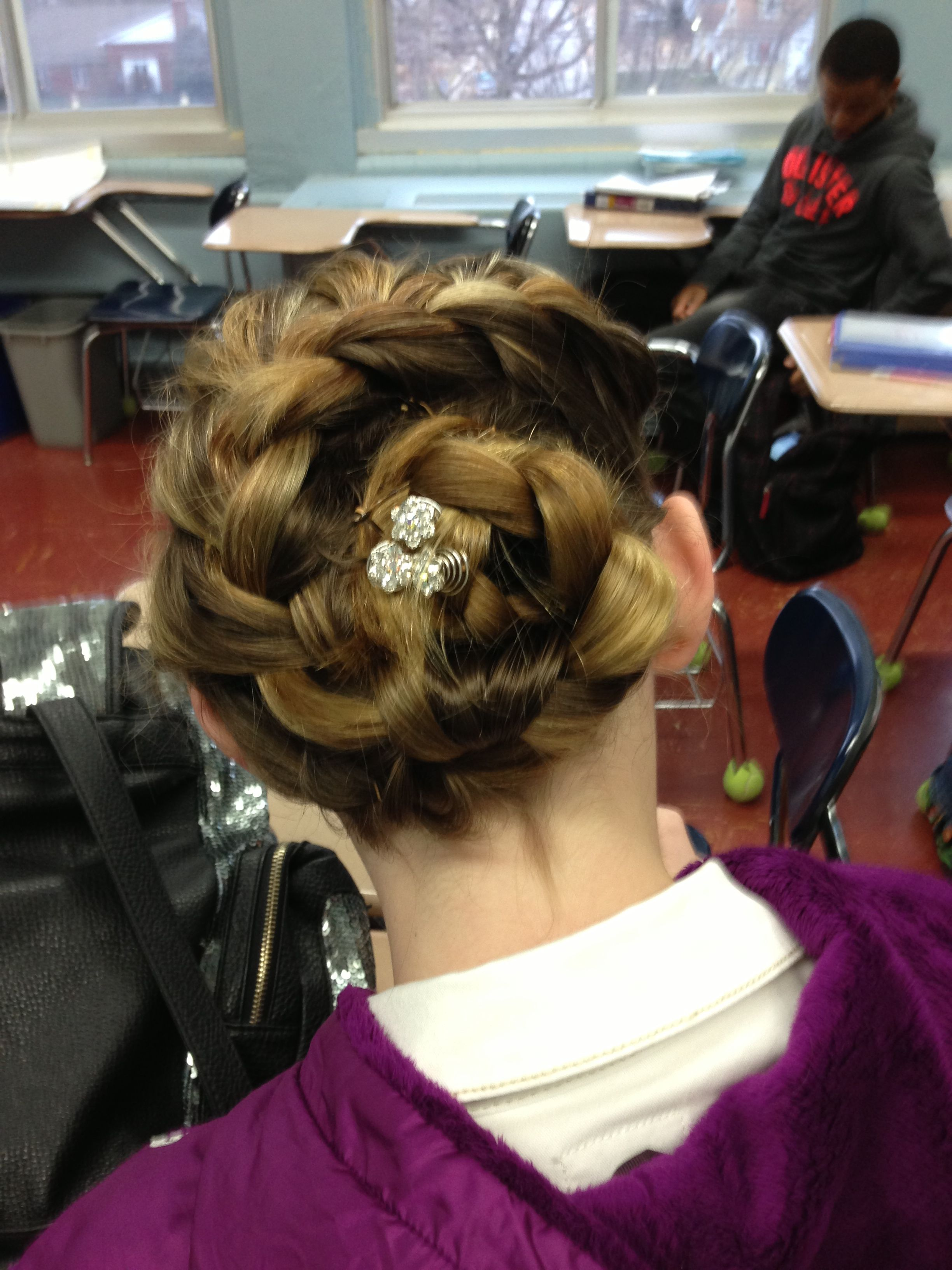 Coolest braid I've ever seen. And it wasn't even that hard...