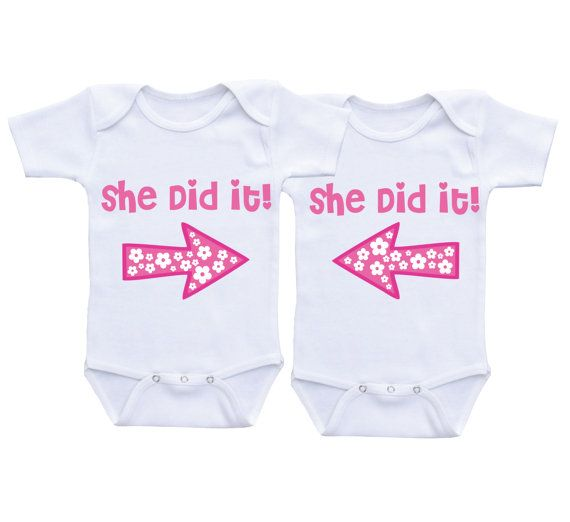 cc877b2e9 Funny Twin Onesies,Cute Twins Onesie, Clothing for twins, Twins Gifts, Twin  Outfit, Twin Clothing, Boy/Girl Twin Onesie Dress your twins in