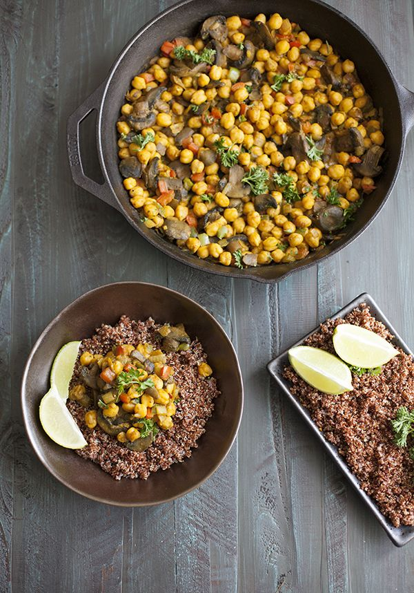 Quick And Easy Chickpea Scramble Choosing Raw Vegan And