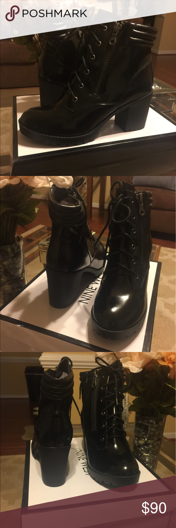 Brand New Nine West Moto Boots Brand New with tags size 10 Nine West Shoes