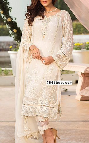aeaa2f36ac Off-white Chiffon Suit. Online Indian and Pakistani dresses, Buy Pakistani  shalwar kameez dresses and indian clothing.
