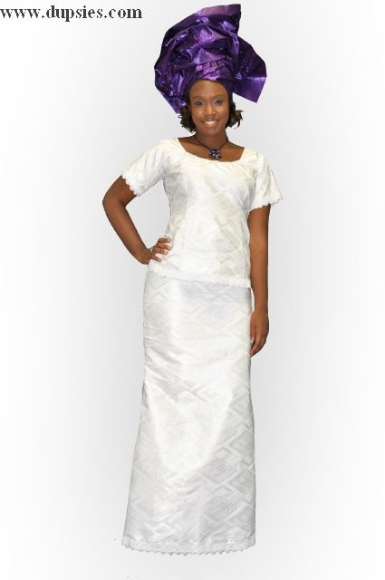 White African Dresses