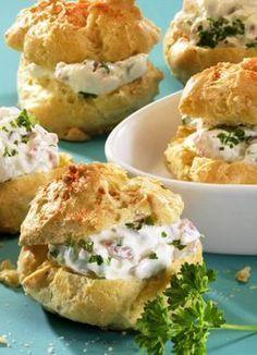 Pikante Käse-Windbeutel #festmad