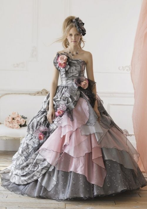 Prom dress fashioned in combination of Victorian/Edwardian styles ...