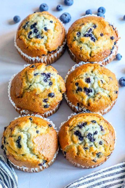 The Best Easy Jumbo Blueberry Muffins Recipe Sweet Cs