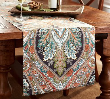 Sofa Table Runners Cheap Sofas In Houston Texas Anton Paisley Print Runner Warm Multi Decor Room And Potterybarn